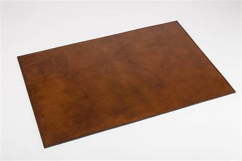 Desk Mat personalised leather desk mat by of