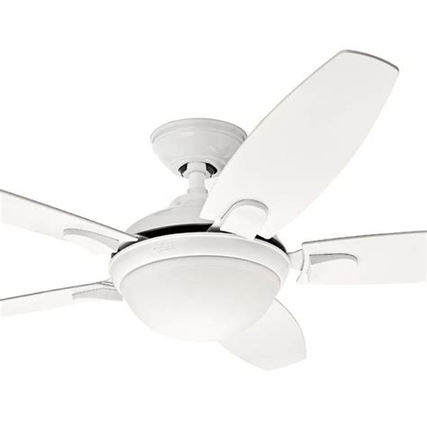 hunter contempo ceiling fan contempo ceiling fan with light in white 52 quot