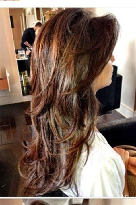 how to highlight layered hair nina dobrev side bangs long layers highlights in hair