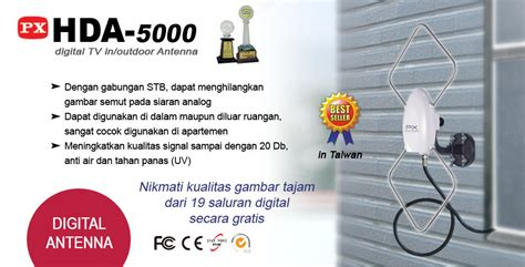 Antena Px 5000 Jual Px Digital Tv In Or Outdoor Antena Hda 5000