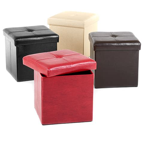 storage ottoman faux leather faux leather storage ottoman boscov s