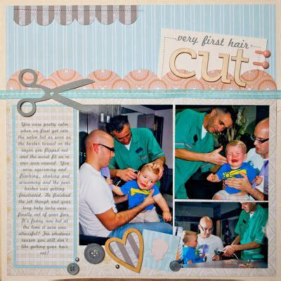 scrapbook layout for first haircut baby s first haircut scrapbook pinterest the o jays