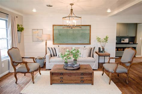 Shiplap Wall Living Room Decorating With Shiplap Ideas From Hgtv S Fixer