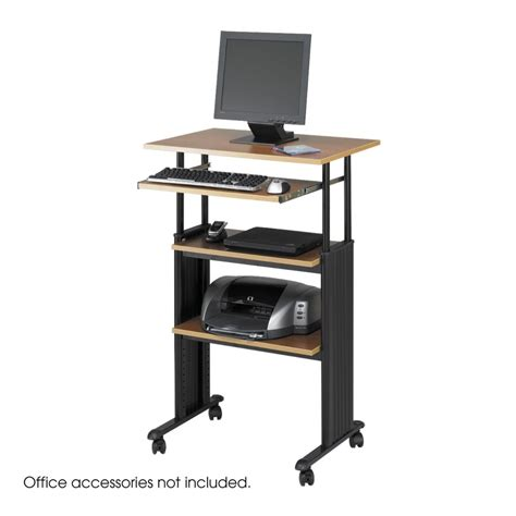 stand up computer desk on wheels stand up desk safco products muv stand up adjustable