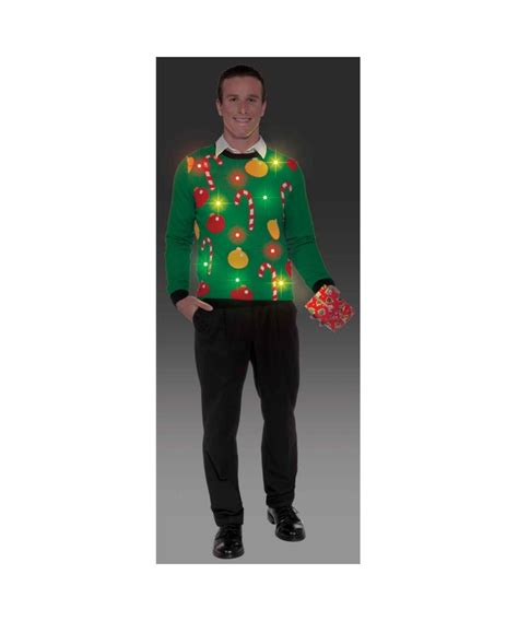 ugly christmas light up sweater mens costume shirt