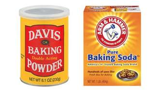 baking soda vs baking powder what s the difference bon