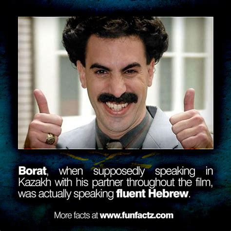 best borat quotes borat when supposedly speaking in kazakh with his partner