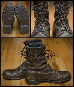 Sepatu Country Boots Doff 80 distressed leather faded black regalia combat boots perfectly worn in and supple mens