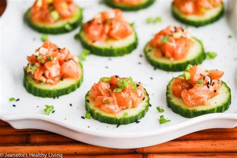 appetizers ideas easy asian salmon cucumber appetizers recipe jeanette s
