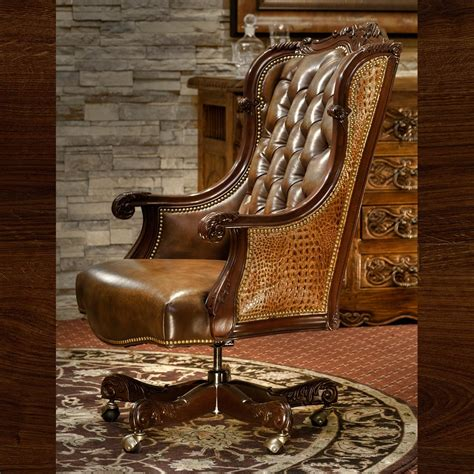 Alligator Chair by Oakley Alligator Executive Swivel Brumbaugh S Home Furnishings Upscale Western Fort