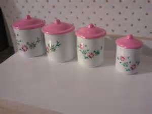 pink kitchen canister set items similar to pink white kitchen canister set for dolls house kitchen on etsy