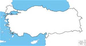 Turkey Country Outline by Blank Map Of Turkey