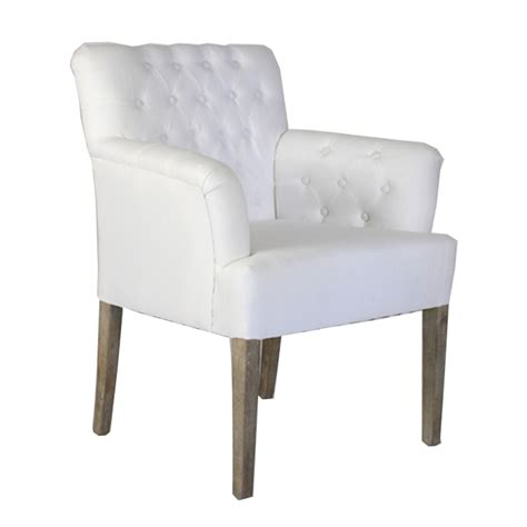 Arm Chair White Tufted Arm Chair Oak Framed