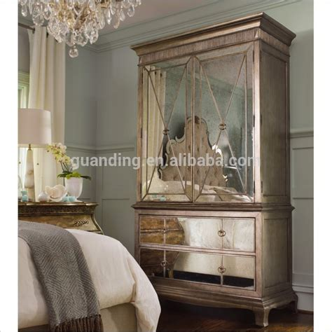 2015 modern lucury bedroom furniture mirrored