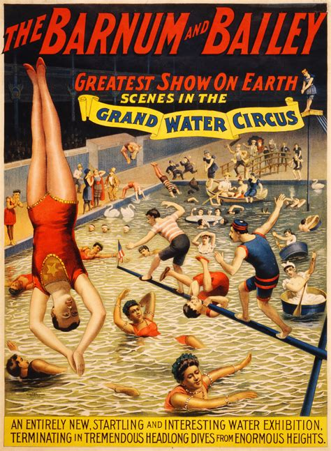 Barnes And Bailey Circus by In The Grand Water Circus Poster For Barnum