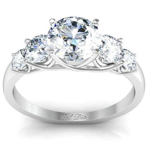 stone diamond engagement ring  trellis setting