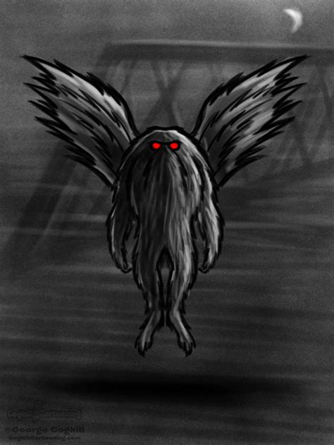mothman cartoon character sketch coghill cartooning