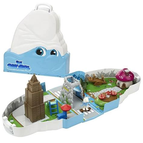 Cs 1085 2in1 Blue smurfs escape from new york 2 in 1 playset jakks pacific smurfs playsets at