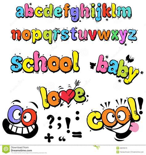 lettere divertenti lettere divertenti fumetto fotografie stock immagine