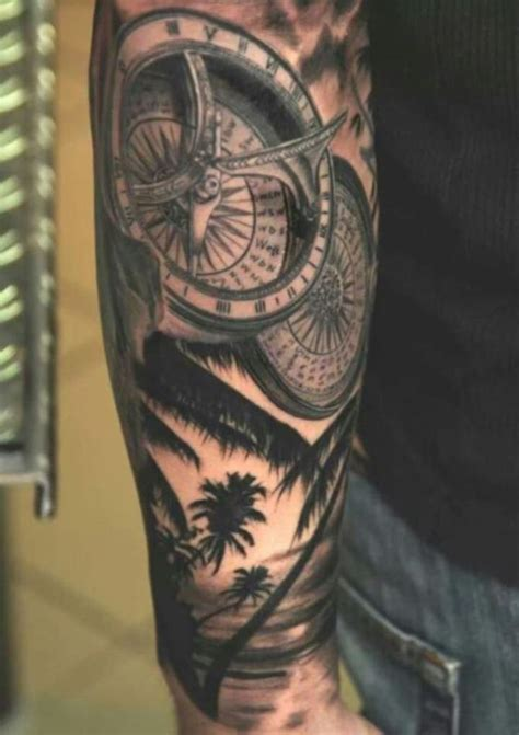 quarter sleeve compass tattoo 20 compass tattoos tattoofanblog