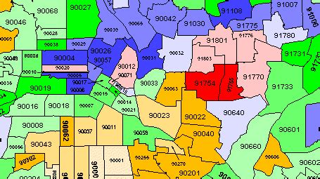 la zip code map los angeles map with zip codes