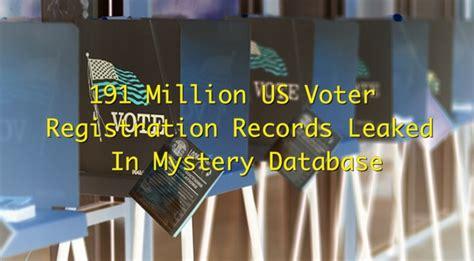 Voter Registration Records Researcher Finds 191 Million Us Voter Registration Records