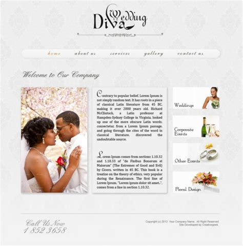wedding site templates free 40 psd wedding templates free psd format