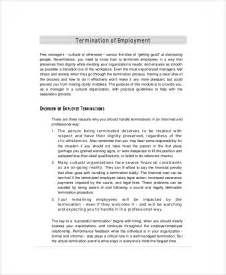 sample employee termination letter 5 documents in pdf word