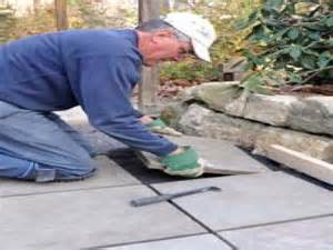 laying pavers concrete patio install pavers concrete patio images