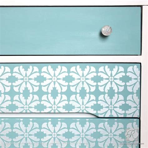 retro wall stencils patterns and tips from 7 reader modern geometric flower furniture and wall stencil royal