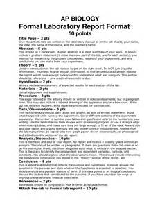 biology lab template biology lab report cover page