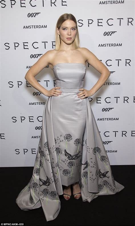 lea seydoux french open lea seydoux in a strapless gown at james bond spectre s