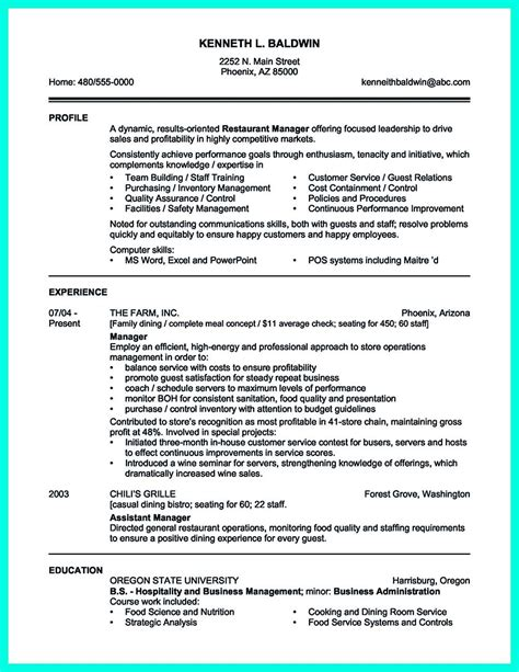 impressive resume template your catering manager resume must be impressive to make