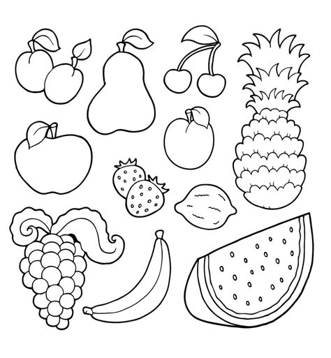 imagenes variadas en ingles te cuento un cuento dibujos para colorear de frutas variadas