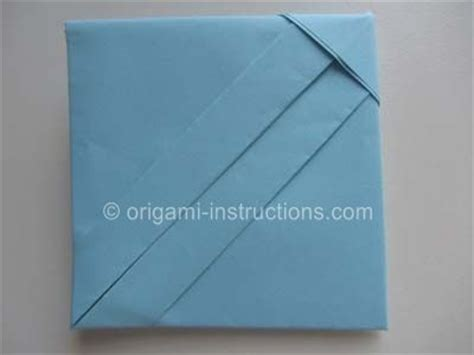 How To Make An Origami Letter - origami square letter fold paper working