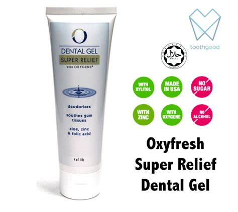 Jual Cleanness Tooth oxyfresh relief dental gel 28ml toothgood