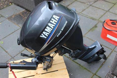 buitenboordmotor 15 pk te koop yamaha 9 9 pk 4 takt langstaart in nieuwstaat