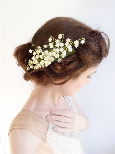 buy lily hair ivory lily of the valley hairpiece lilies of the valley