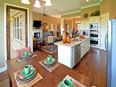 flooring open floor plan kitchen and living room with