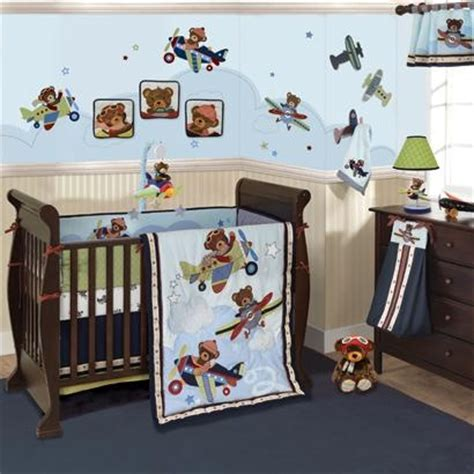 Airplane Baby Crib Bedding Airplane Boy Crib Bedding Planes With Bears Are Flying Into Your Nursery Any Baby Boy Will