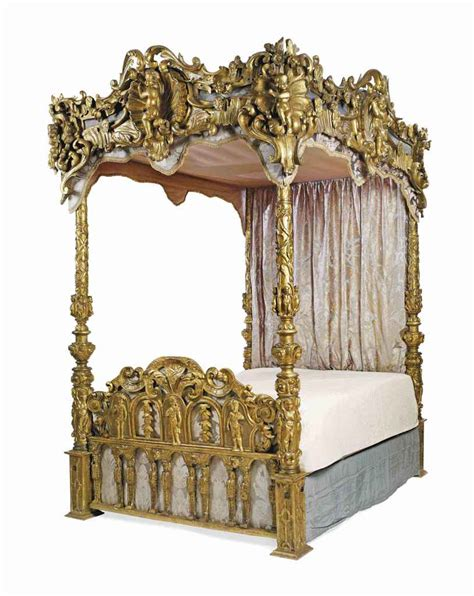 rococo bed an italian rococo giltwood tester bed 19th century