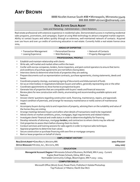 real estate agent letter resume of real estate agent