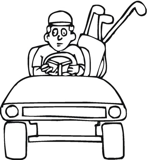 golf coloring pages free golf cart coloring pages