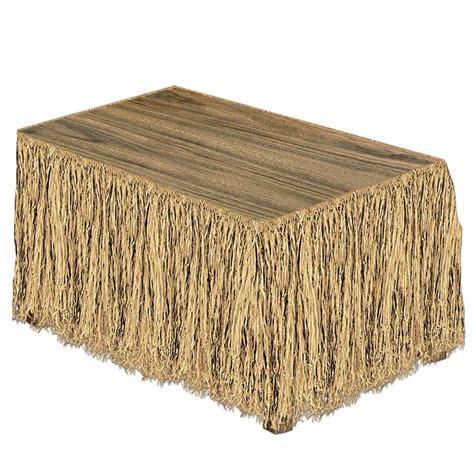 Desk Skirt by 9 Raffia Tropical Table Skirt Tropical Island