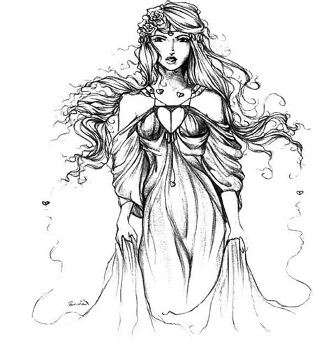Aphrodite Coloring Page by Aphrodite Coloring Sheets Murderthestout