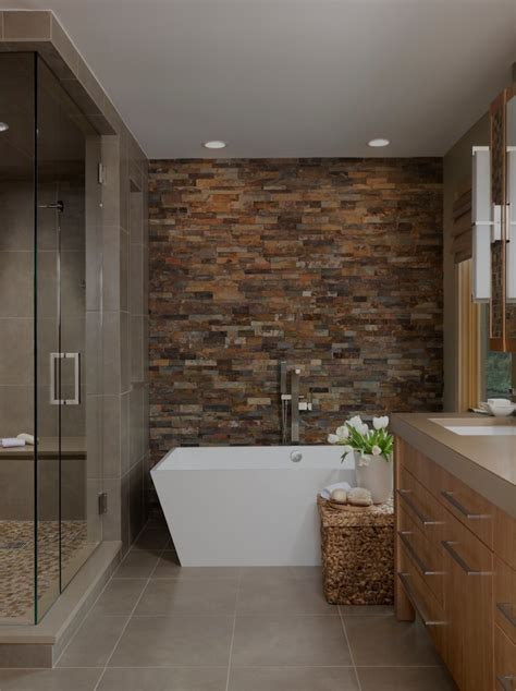 bathroom stone accent wall ideas to make your interior more striking