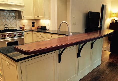 kitchen bar top raised bar tops j aaron