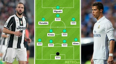 ronaldo juventus player real madrid v juventus cristiano ronaldo and gonzalo higuain in chions league combined