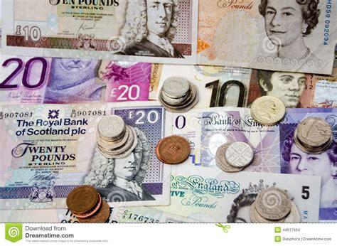 schottische banken britisches bargeld redaktionelles stockbild bild
