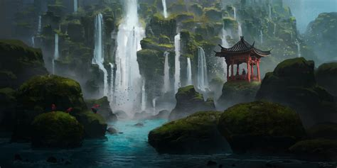 waterfall island island of a thousand waterfalls by piotrdura on deviantart